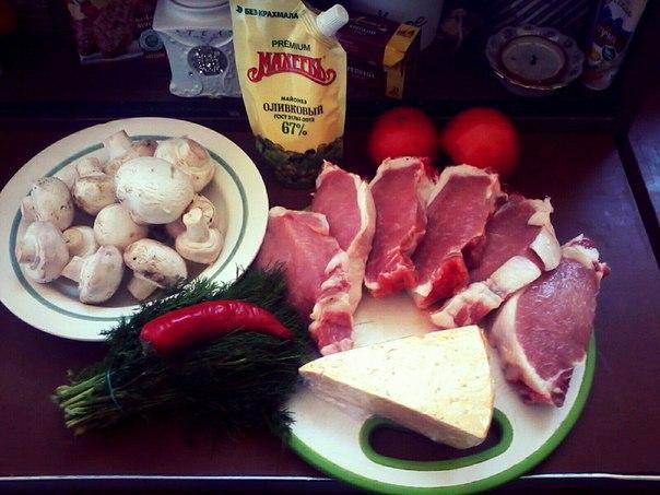 Как приготовить в духовке острую свинину с сыром